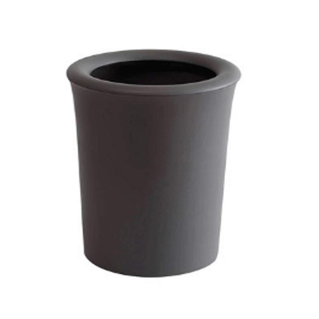 cubo de la basura  cesto de basura Sin tapa, anillo de presión, 8L, bote de basura, baño, cocina, sala de estar, dormitorio, simple, cesta de papel de plástico cubo de la basura  cesto de basura