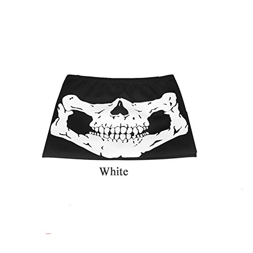 Motorcycle SKULL Ghost Face Windproof Mask Outdoor Sports Warm Ski Caps Bicycle Bike Balaclavas Masks Scarf Halloween Mask (White (Jack Daniels Girl Halloween Costume)
