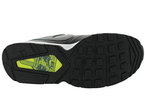Nike Herren Air Max Coliseum Racer Leder Sportschuhe Schwarz / Volt / Weiß / Cool Grey