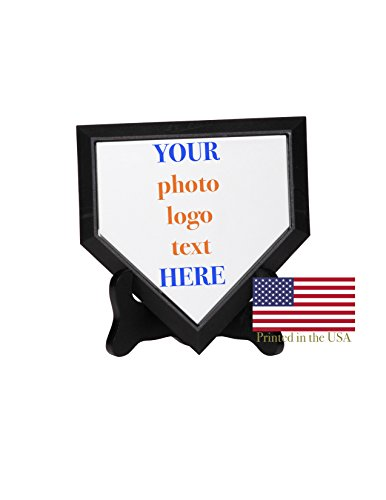 Mini Home Plate - 5 Inch Mini Sized Homeplate - Ships in 3 Business Days, High Resolution Photos, Logos & Text on Home Plates - for Trophies, Personalized Gifts ()