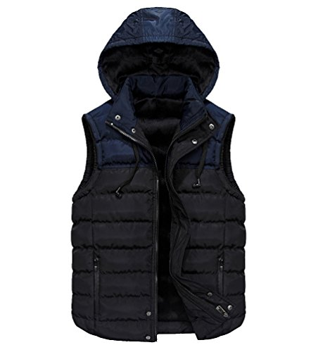 Removable With Warmer Jacket Padded Gilet Fit Gilets Fit Body Slim Jackets Bodywarmers Sleeveless Quilted Slim Vest Thicken Winter Puffa Warm Hooded Hood Bubble Bodywarmer Mens Black Puffer UnZ6CC