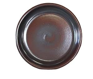 –Plato para maceta redonda a las heladas, impermeable Bebedero Diámetro de 42x 5cm, forma de superficie 36cm, 099.042.01Efecto Marrón Calidad de hentschke cerámica