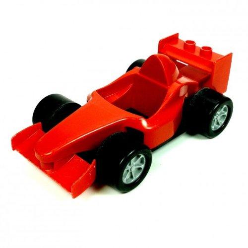 1 X Lego Duplo Rennwagen Auto Ferrari Rot Schwarz Wagen Ohne