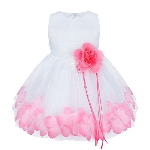 Easter Wedding (iEFiEL Babys Girls Fashion Flower Petals Wedding Birthday Easter Dress Pink 18-24 Months)