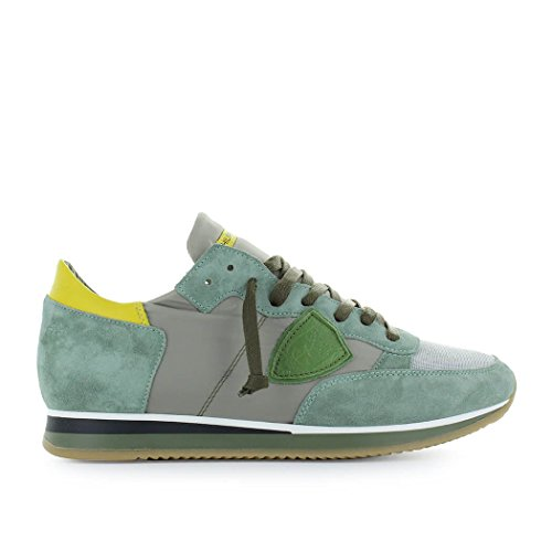 Philippe Model Mens Shoes - Philippe Model Men's Shoes Tropez Mondial Green Yellow Sneaker Spring Summer 2018