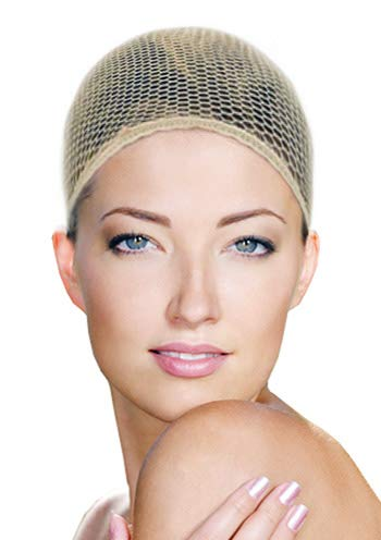 - Antibacterial Wig Caps by HC Wig Care Products Brown Mesh