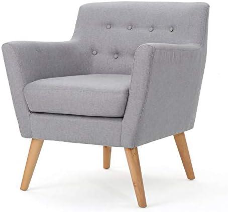 Christopher Knight Home Meena Mid-Century Modern Fabric Club Chair