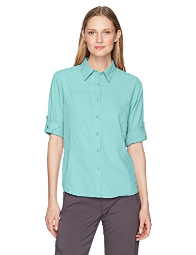 White Sierra Women's Gobi Desert Long Sleeve Shirt, Aqua, Medium