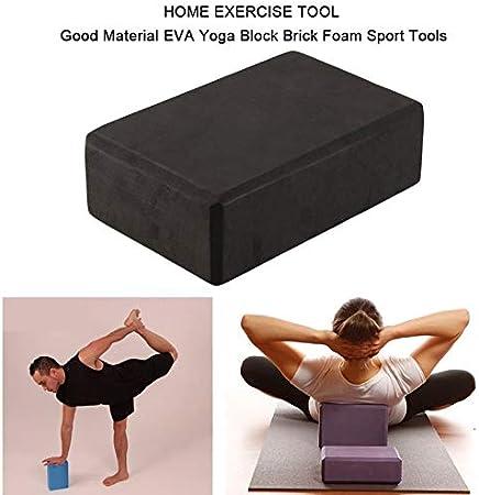 DGdolph Inicio Ejercicio Herramienta Buen Material EVA Bloque de Yoga Ladrillo Espuma Herramientas Deportivas Negro