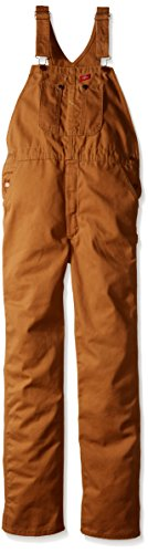 (Dickies Little Boys' Duck Bib Overall, Brown Duck, Medium (5/6))