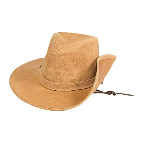 - Minnetonka Men's Aussie Leather Hat Tan X-Large