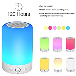Portable Bluetooth Speakers V4.0 Wireless Speakers Stereo Subwoofer Smart Touch Speakers Color Changing