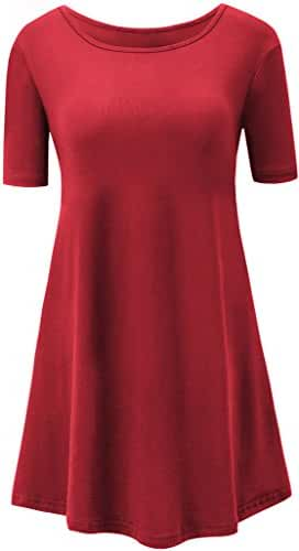 Short Sleeve Tunic Top for Women