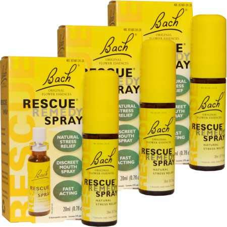 Bach 03PACK Rescue Remedy Natural Stress Reliever Spray (60 mL) by Bach