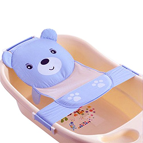 Baby Adjustable Bathing Net Seat (Blue) - 9