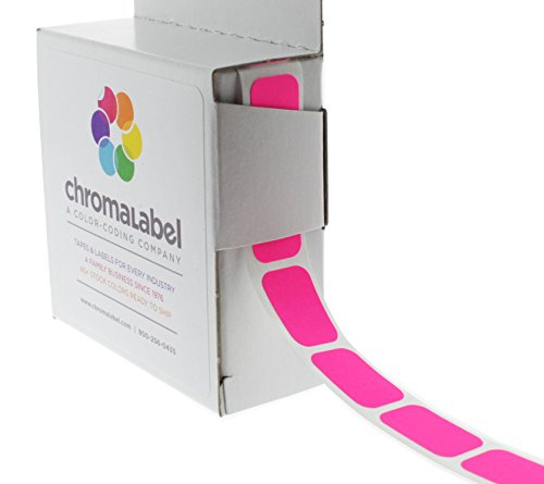 "1/2"" x 3/4"" Fluorescent Pink Square Color-Coding Stickers 