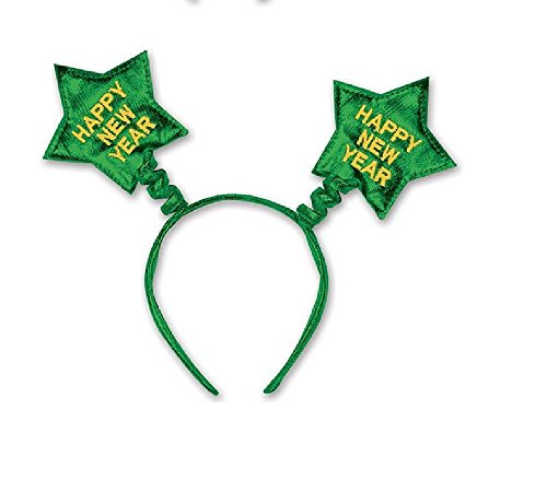 [Happy New Year Star Boppers Headband (Green)] (Happy New Year Boppers)