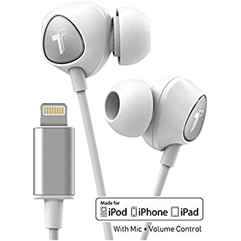 85bc301ac63 Thore V100 iPhone Earbuds - Lightning Connector MFI Certified by Apple  Earphones (2018) Ergonomic