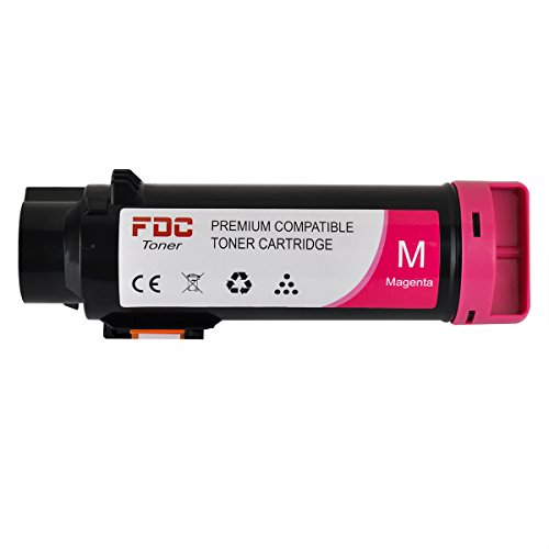 FDC Toner Replacement Toner Cartridges Compatible With Dell H625cdw, H825cdw, S2825cdn Printers 1 Pack Magenta 593-BBOY / 5PG7P
