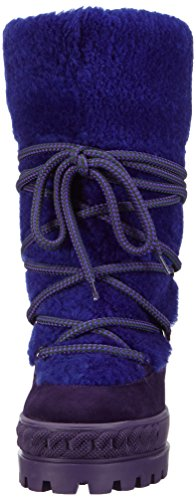 Casadei 2RV58 - botas de caño bajo de cuero mujer Violeta - Violett (Eggplant)