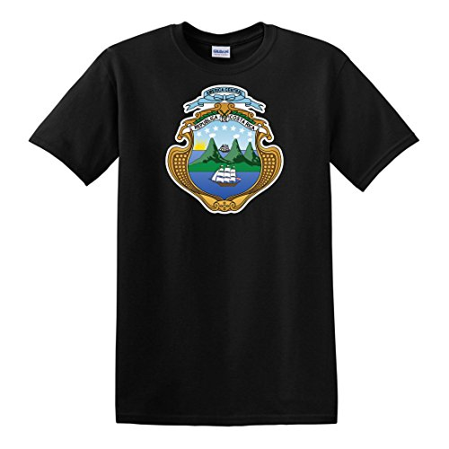 - fagraphix Men's Costa Rican Coat of Arms T-Shirt XX-Large Black