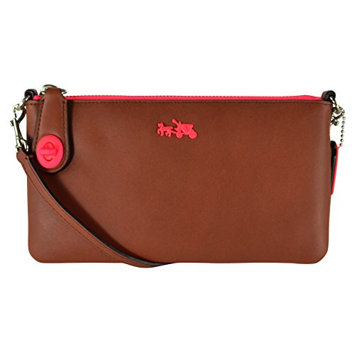 Coach C.o.a.c.h. Herald Crossbody in Calf Leather Saddle/neon Pink