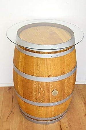 Amazon De Temesso Dekofass Stehtisch Aus Echtem Weinfass