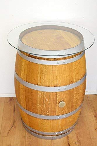 Mesa alta de barril de vino, con cristal, para el jardín, 75 cm de ...