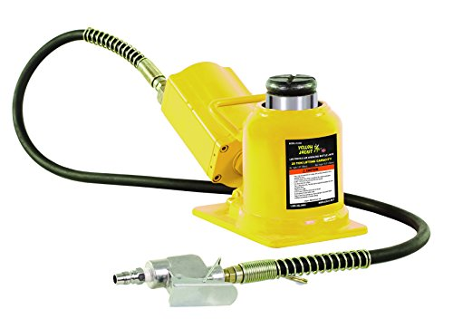ESCO 10399 Yellow Jackit Air Hydraulic Bottle Jack, 20 Ton Capacity, 10.25 Inch Height 14 Inches ()