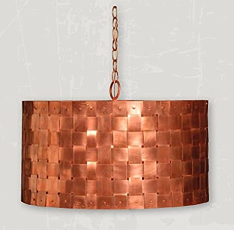 St. James Lighting Basket Weave Copper Chandelier Medium Size & St. James Lighting Basket Weave Copper Chandelier Medium Size ...