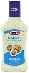 Kraft Ranch with Bacon Dressing & Dip, 16-Ounce Plastic Bottles (Pack of 6)