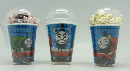 Set of 8 - Thomas Party Cups, Popcorn Cups, Goody Bags, Favor Boxes by Neon