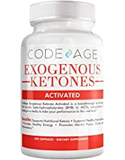 Code Age Exogenous Ketones Capsules - 240 Count - Keto Diet Supplement With Bhb Salts As Exogenous Ketones, Electrolytes And Caffeine