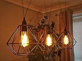 Jaula de metal para bombillas, moderna, industrial, vintage, de ...