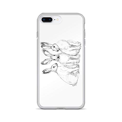 iPhone 7 Plus/8 Plus Case Anti-Scratch Creature Animal Transparent Cases Cover Three Hares Sk131 Animals Fauna Crystal Clear]()