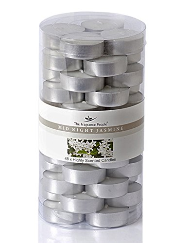 Pack of 48 Jasmine Scented Tealight Candles, Bulk Buy Wholesale Candles Gift Set