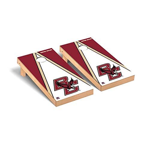 Victory Tailgate Regulation Collegiate NCAA Triangle Series Cornhole Board Set - 2 Boards, 8 Bags - Boston College Eagles (Room Game Boston)