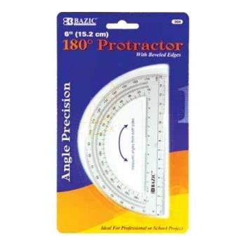 BAZIC Semicircular 6'''' Protractor Case Pack 24