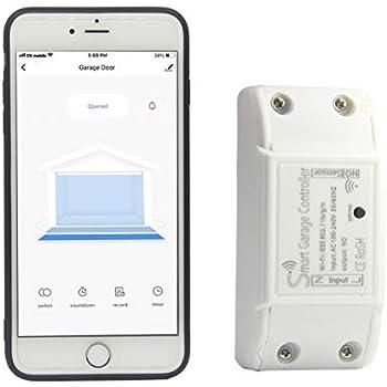 Amazon Com Smart Garage Door Opener Remote With Sensor