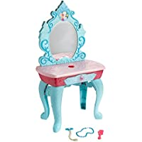 Disney Frozen Crystal Kingdom Beauty Vanity Playset with 7 Glam Hair Styling Beauty Accessories by Disney