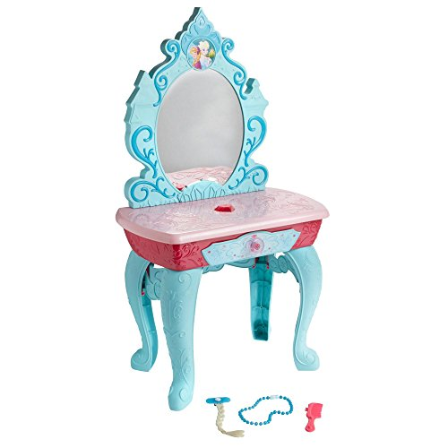 en Anna and Elsa Crystal Kingdom Vanity with Accessories - Lights and Sounds - Over 3 Feet Tall (Anna 3 Light)