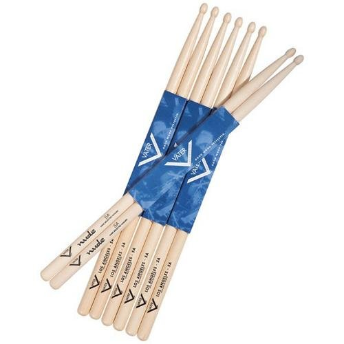Vater Buy 3 pairs of Los Angeles 5A Wood Tip Drumsticks Get 1 Pair of 5A Nude Wood Tip FREE!
