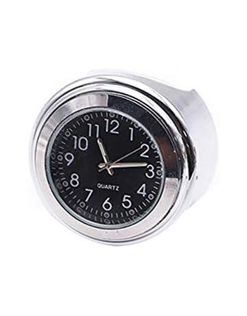 22mm Moto Universel pour Harley Scooter Argent YonganUK 22mm//25mm Guidon Moto Horloge Montre Horloge Style Vintage Horloge pour V/élo Moto