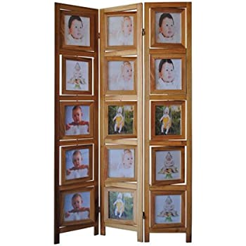 Amazoncom Double Sided Photo Frames Room Divider Natural Kitchen