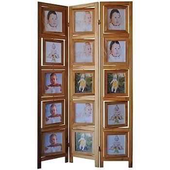 Amazon.com: Kiera Grace Triple Panel Floor Photo Screen, 33 by 64.5 ...