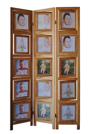 double sided photo frames room divider natural