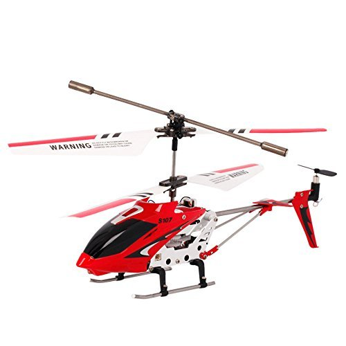 Syma S107G 3CH Channel Infrared Remote Control Mini Metal RC Helicopter with Gyro RTF Red
