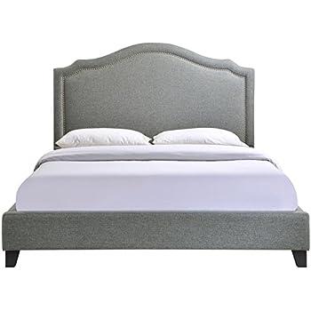 Zinus Upholstered Modern Classic Tufted Platform Bed Queen