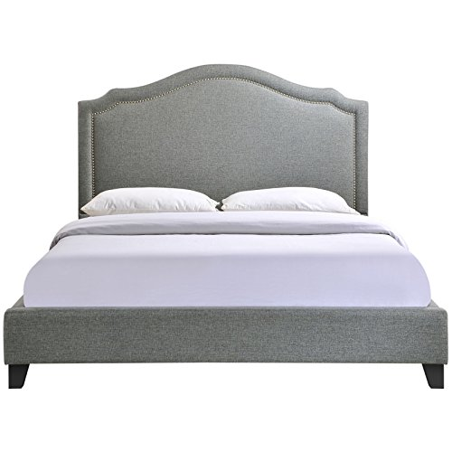 Modway Charlotte Queen Bed Frame In Gray