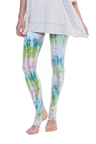 Stirrup Flat Waist Ankle Legging (W-619, Tie-Dye DLZ25) by Hard Tail (Hardtail Tie Dye)